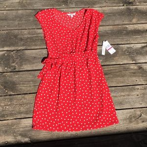 NEW Speechless Red Polka Dotted Dress